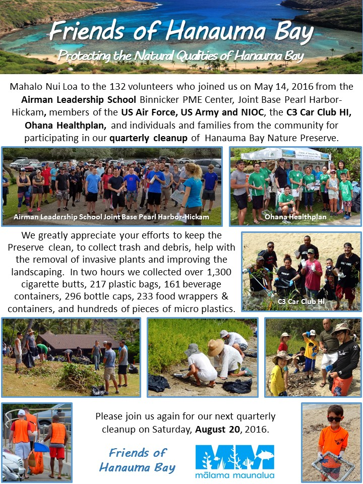 160514_FOHB Quarterly Cleanup Thank-You - 2016-05