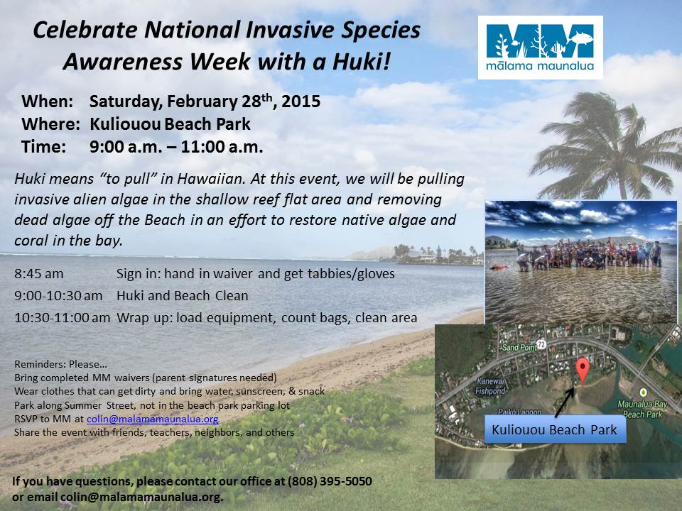 2.28 Huki Invasive Species Awareness flyer