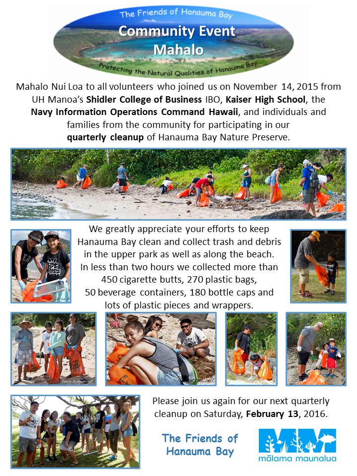 FOHB Quarterly Cleanup Thank-You - 2015-11